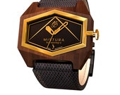 Wood Watches - Infinite - Pui Wood / Genuine Leather Strap