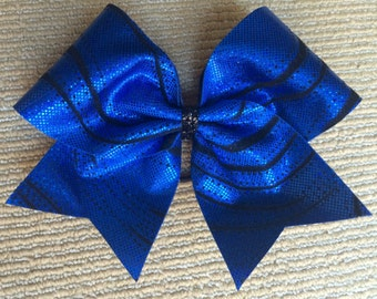 Cheer Bow - Royal Blue with Black