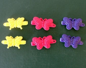 Vintage Butterfly Barrettes