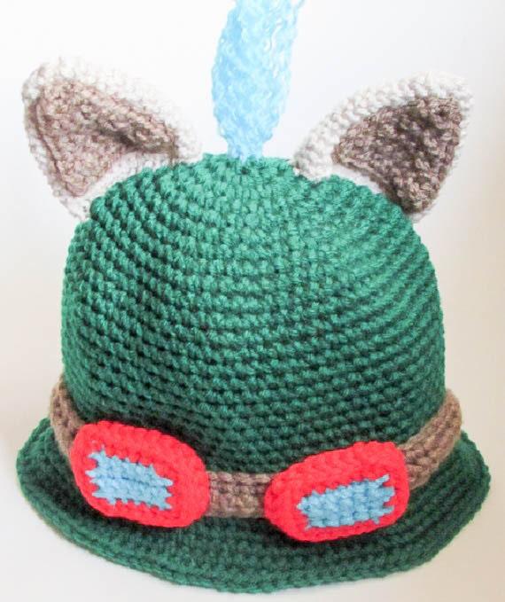 Crochet Pattern Novelty Hats : Crochet Pattern Teemo Hat League Of Legends Hat LOLHat ...