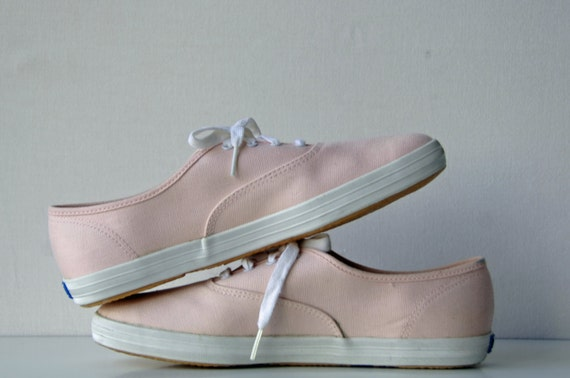 80s Light Pink KEDS / Made in Korea / Size 10M / Large