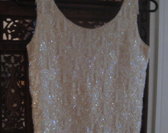 Gorgeous and Beautiful Hand Tailored Sequin and Bead Top from Hong Kong