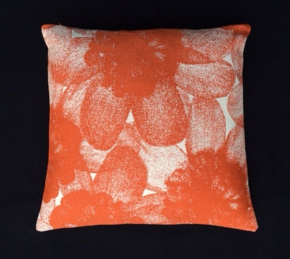 Maharam Oda by Kvadrat Modern accent pillow Tangerine
