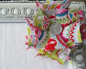 Bold and Bright Fabric Flower