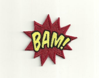Super Hero, BAM Patch! Any Color Combo! Custom Made! F32