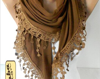 Triangular Scarf  - Cotton Scarf-  Fashion accessories- for her