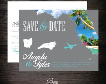 Florida Destination Postcard Save the Dates - Digital