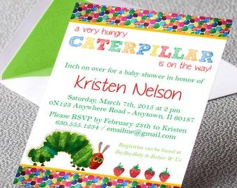 Eric Carle - Very Hungry Caterpillar - Baby Shower Invitation - DIY PRINTABLE