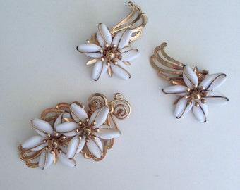 Vintage Napier Brooch and Earring Set | Vintage Jewelry | Napier Jewelry | Vintage Brooch | Vintage Earrings