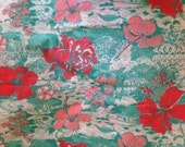 Vintage Lilly Pulitzer era fabric Cayo Hueso by Zuzek Key West Hand Prints - key west toile (light house, lobster, nautical, floral, beach)