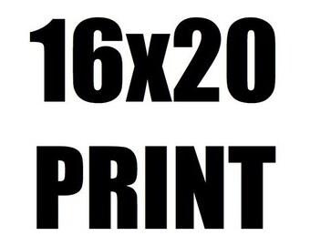 16x20 Poster Size Neon Rocketeers Art Print