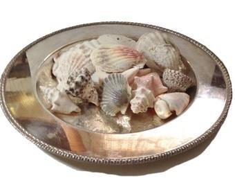 Vintage Silver Bread Tray, Silver Platter, Shabby Home Decor,  Holiday Decor