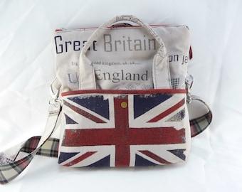 """Handbag with removable shoulder  """"UK England"""""""