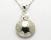 ... Dime Necklace Coin Jewelry 40th Birthday Gift or 40th Anniversary Gift