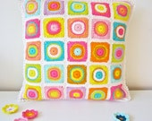 Colorful Crochet Cushion Cover (Pillow Case)