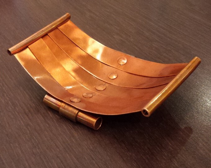 Soap Dish Tray in Copper - handmade - naturally antimicrobial