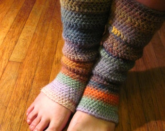 yoga socks, wool blend, one size fits most. pinks, blues, yellows.