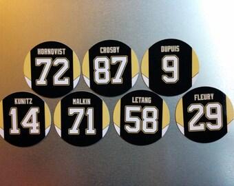 Pittsburgh Penguins Magnet Set feat: Sidney Crosby, Evgeni Malkin, Marc-Andre Fleury, Kris Letang, Patric Hornqvist, Dupuis & Chris Kunitz