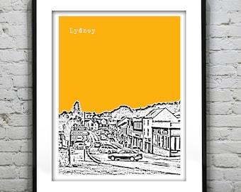 Lydney England Poster  Art Print UK Wales United Kingdom