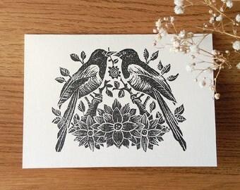 ALL PURPOSE hand print blank card