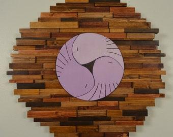 """wood wall art - """"BIRDS of a FEATHER"""" - 3 bird nest, wood art, modern art, rustic art, wall art, wood wall, birds, nest"""