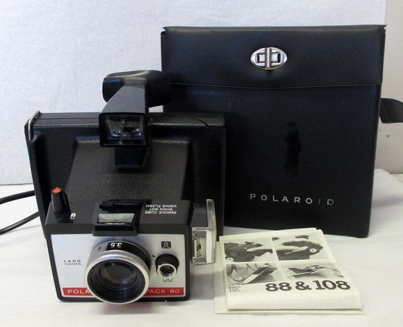 polaroid land camera colorpack 80 vintage by jacobstradingvintage. Black Bedroom Furniture Sets. Home Design Ideas