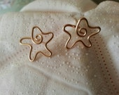 Starfish posts in 14k gold filled