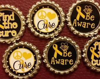 Childhood Cancer Awareness Magnet Set