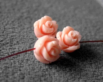 5pcs Coral Flower Beads 8mm B11