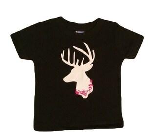 Flower Deer Tshirt