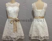 2014 formal dress,short prom dress ,lace prom dress with sash,short evening dress,hot sales dress,formal evening dress,short party dress