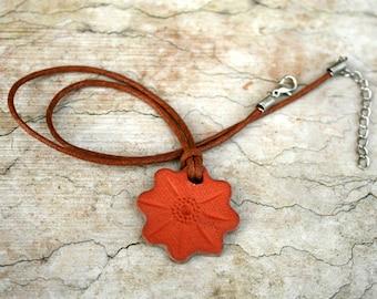 Handmade Ceramic Pendant / Terracotta Necklace / Essential Oil Necklace/ Personal Diffuser