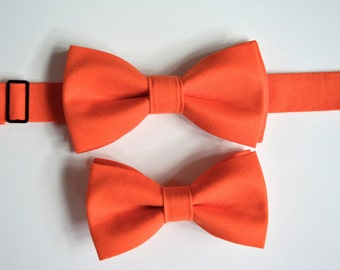 Boys bow tie- Orange, orange clip on bow tie, bow tie with strap, kids bow ties, bow ties for adults