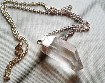 SALE* QUARTZ crystal necklace