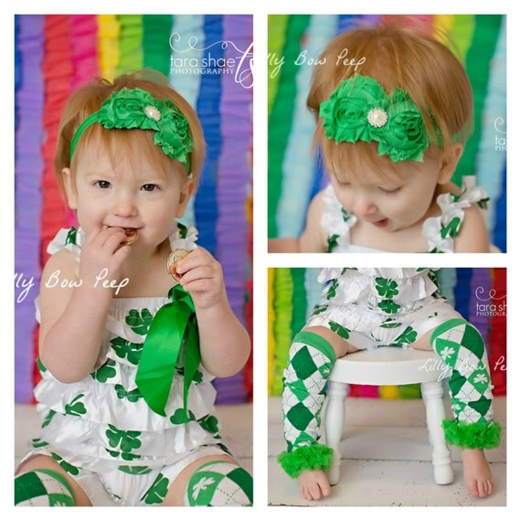 Items similar to St Patricks Day Outfit Baby girl clothes