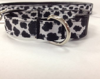 Adjustable Black White Holstein Cow Print Dog Collar XSmall --Ready to ship--TODAY
