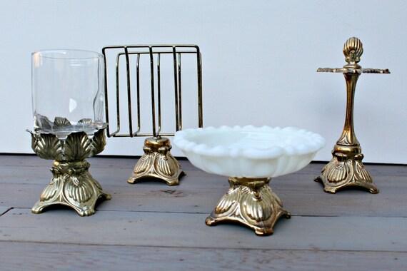 Gold Vanity Set Hollywood Regency Glam Bathroom Vanity