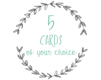 5 cards and/or postcards of your choice