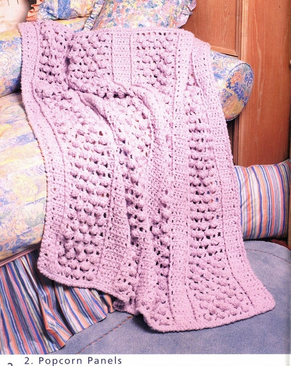 Knit & Crochet 8 AFGHANS and PILLOW Pattern Nautical