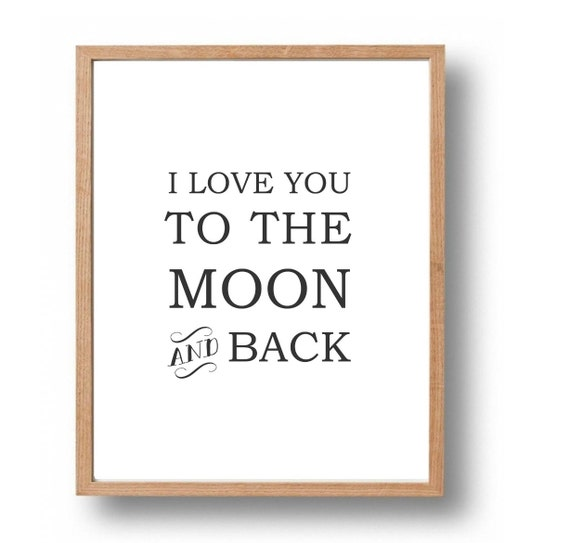kids wall art i love you to the moon back by. Black Bedroom Furniture Sets. Home Design Ideas