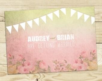 Rose Garden Wedding Invitation Printable DIY