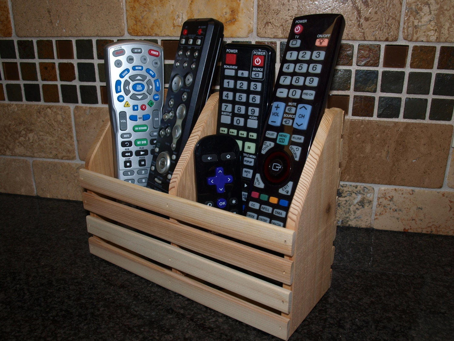 Remote Control Holder For Coffee Table Remote Holder Etsy