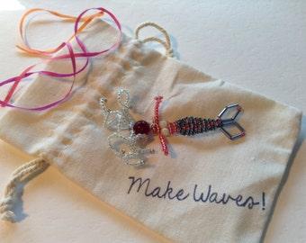 Beaded Mermaid Gift Bag