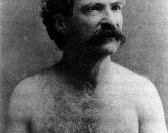 Mark Twain- Shirtless- (1883) Photo Print