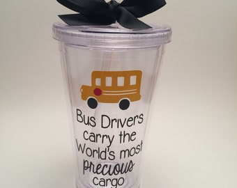 School Bus Driver Gift, Bus Driver Tumbler, Precious Cargo Tumbler, Bus Driver Appreciation Tumbler Cup, Bus Driver Gift
