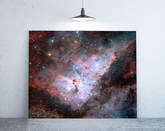 """58"""" x 58"""" - Space Photography, Large Print of Galaxy, Carina Nebula"""