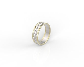 MAN'S WEDDING BAND, man gold  wedding band