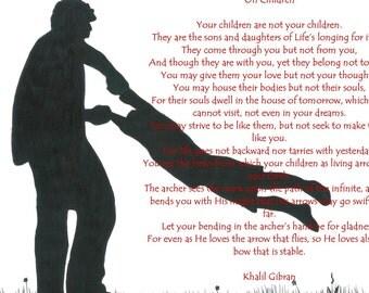 Khalil Gibran Poem On Children 5,Vancouver Etsy Poster, Inspirational Poster, Heartfelt Poster
