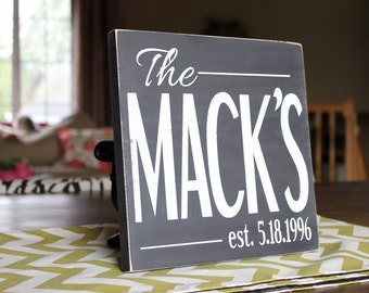 Painted Custom Personalized Established Sign