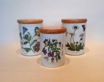 1970s Portmeirion Botanic Garden Storage Jar Set.